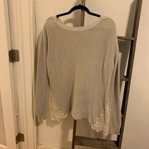 Urban Outfitters Sweater Lace Detailing